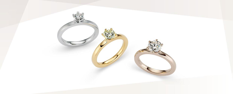 Verlobungsringe Frankfurt, Gold, Weißgold, Rosegold