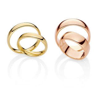 Ehering Modell Soft Classic in Gold & Rosegold